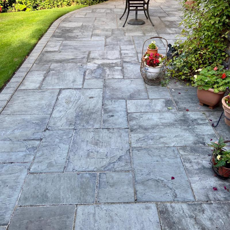 Image 14 - A West Byfleet patio before we began our process.