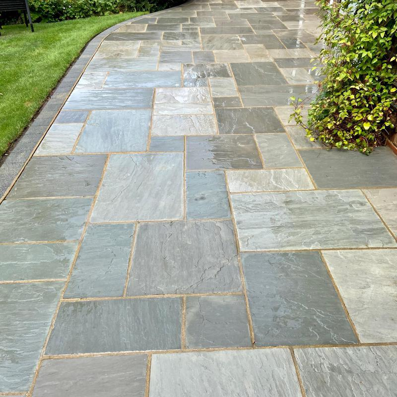 Image 13 - The same West Byfleet patio, cleaned and treated for blackspot.