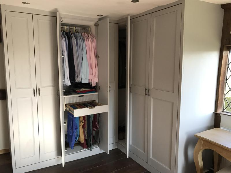 Image 13 - Some newly fitted wardrobes in a old 15 century house, we then finished with painting them