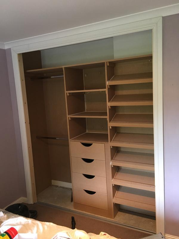 Image 22 - Fitted Wardrobe, internals. 2 x Hanging Rail, Soft Close Drawers + Shelves, Shoe Rack
