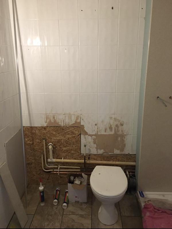 Image 176 - Before - Bathroom update with shower wall boards - FOLKESTONE