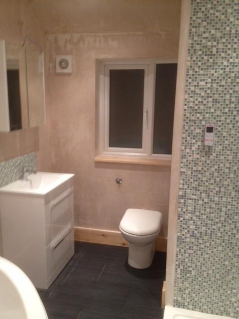 Image 8 - Converting a bedroom into a bathroom from start to completion