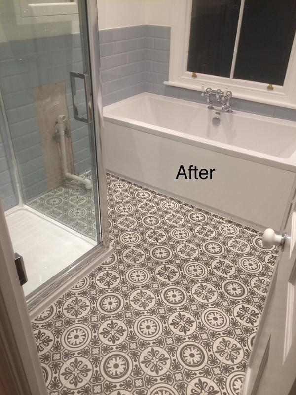 Image 12 - Property in Dulwich Bathroom AFTER PHOTO. Vinyl floor installation completed November 2019.