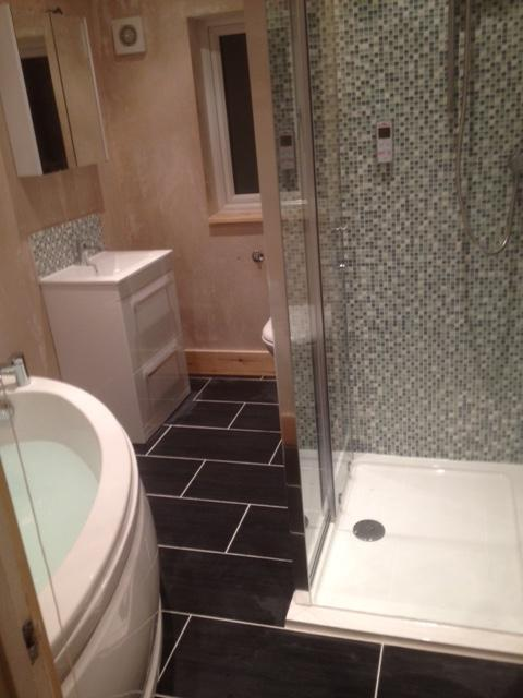 Image 9 - Converting a bedroom into a bathroom from start to completion