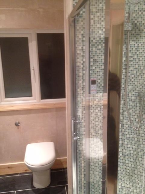Image 11 - Converting a bedroom into a bathroom from start to completion