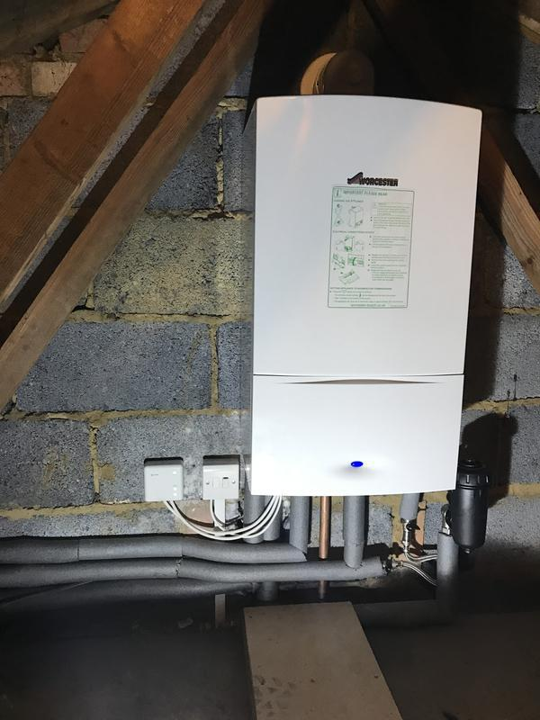 Image 9 - Worcester 30kw combination boiler installation into loft space with HIVE active heating controls. Power flush carried out and issued 5 Year warrenty