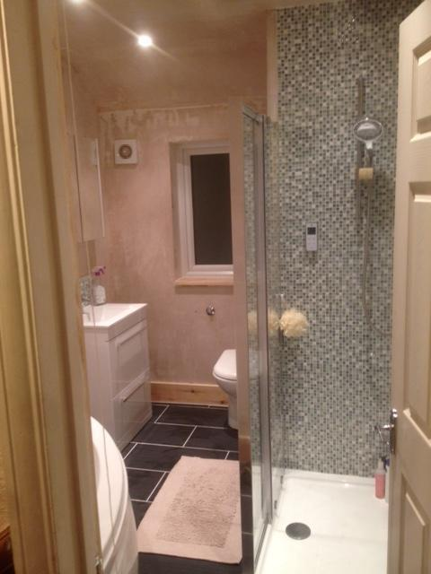Image 12 - Converting a bedroom into a bathroom from start to completion