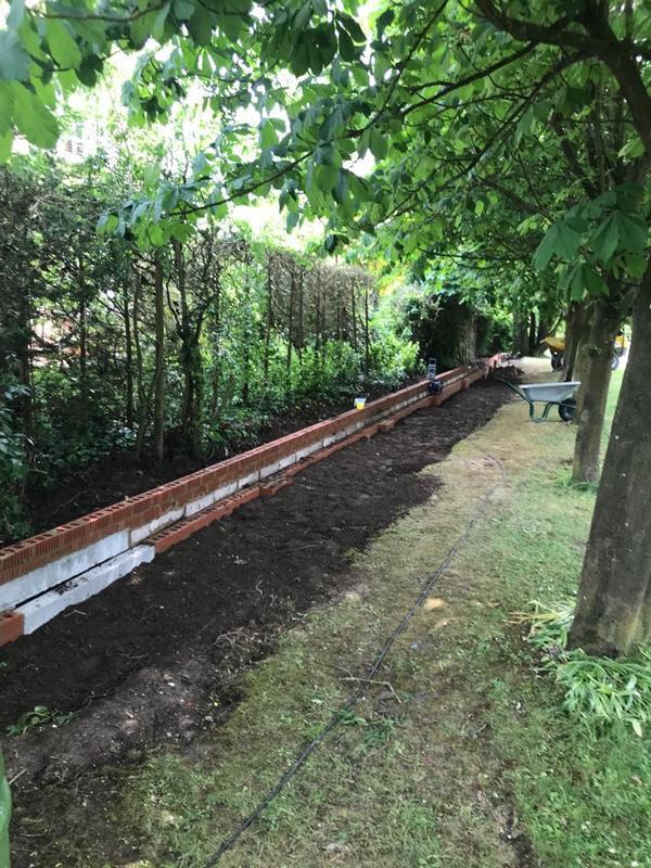 Image 11 - 50 metre wall in progress