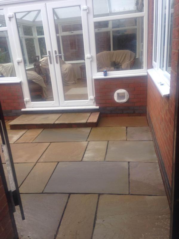 Image 26 - Indian slabs stone patio Tibshelf