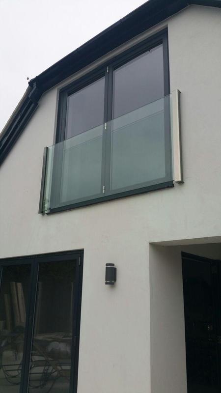 Image 34 - frameless Juliette balcony supplied and fitted so as view from inside is not obscured