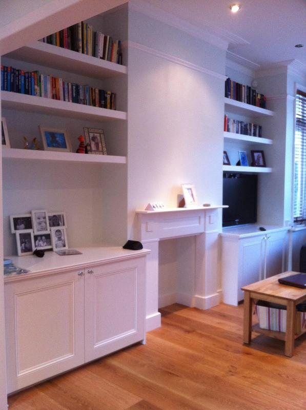 Image 40 - Alcove cabinets white painted