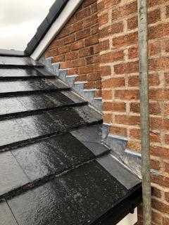 Image 24 - Main Roof Chimney Repairs, Ridge Repairs, Verge Replacement   Lower Extension Verge and Tile Replacements. Completed August,Styvechale