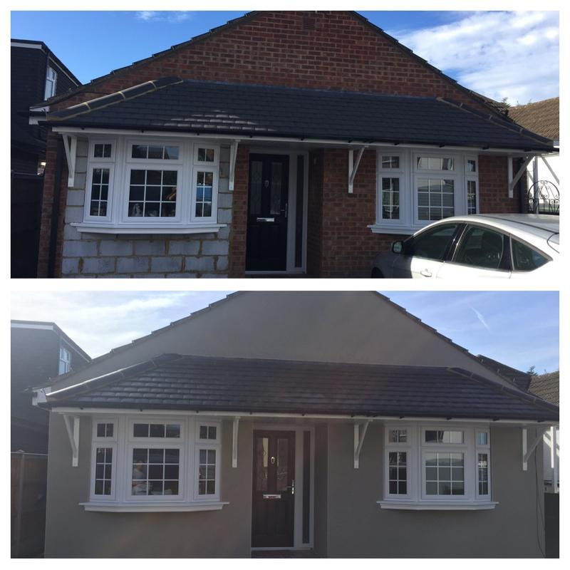 Image 6 - Garage conversion finished in grey monocouche