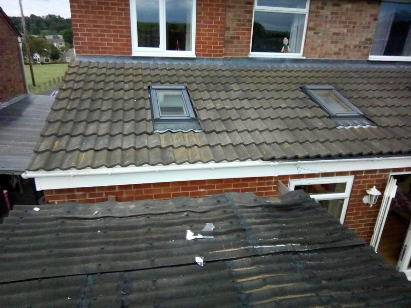 Image 20 - Tiles on a new extension and soffit and facias completed.