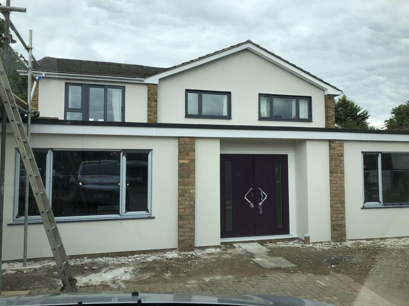 Image 9 - Single storey front extension in St.Albans and a total exterior make over of the 1st floor.
