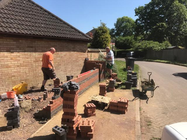 Image 53 - Garden wall construction in Guildford Surrey