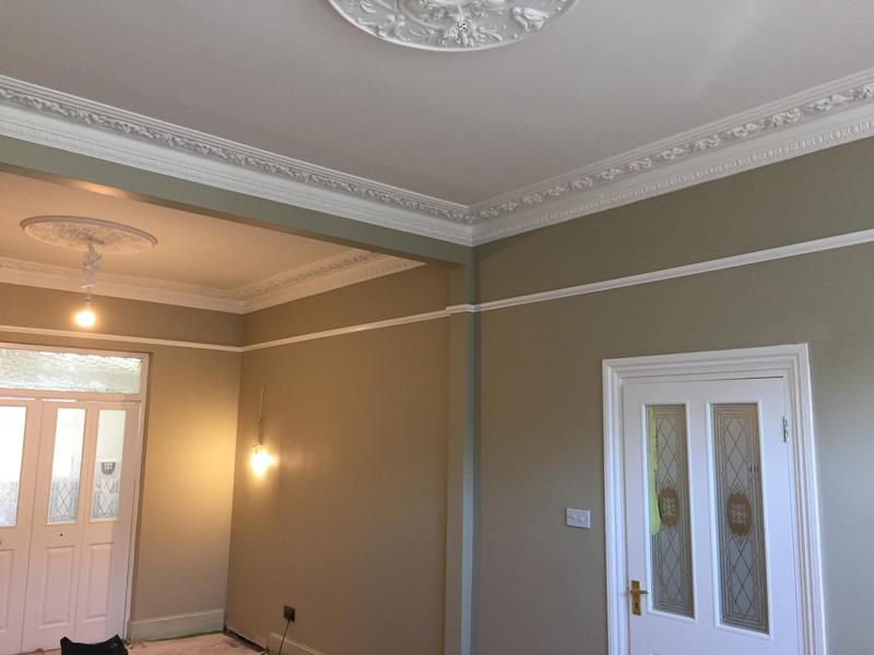 Image 21 - Ceiling and walls, and woodwork painted