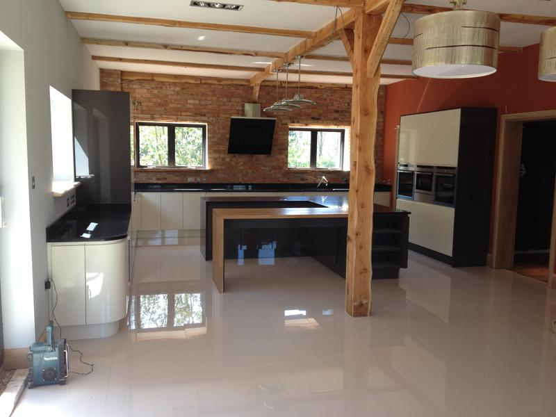 Image 27 - Bespoke gloss handleless kitchen and utility installed in massive barn conversion.