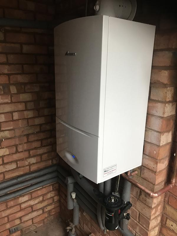 Image 20 - Worcester 30kw boiler installation carried out with magma clean power flush and HIVE active heating controls 5 year warranty