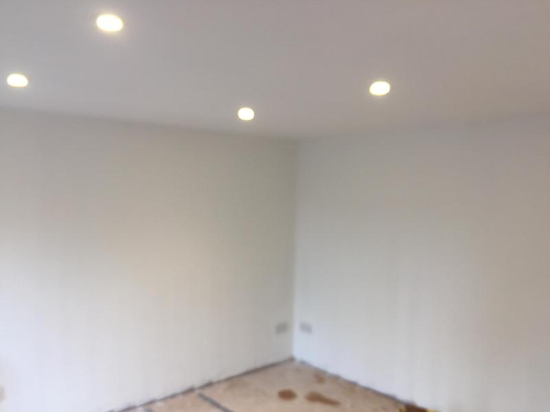 Image 45 - Ceiling and walls plastered and painted