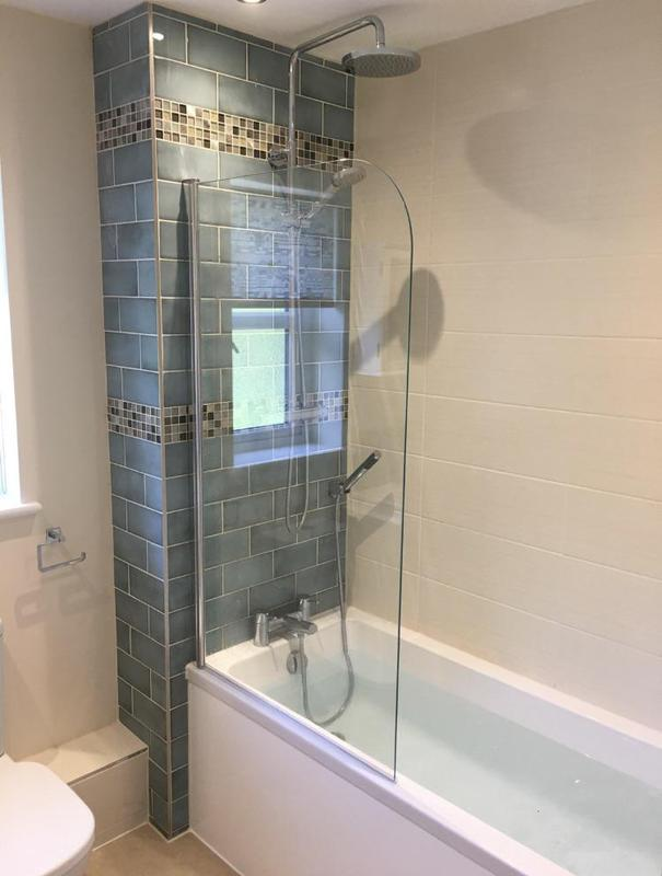 Image 140 - After - Replaced shower new feature tiled wall replaced basin and toilet with splash back ASHFORD