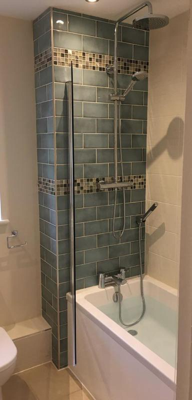Image 141 - After - Replaced shower new feature tiled wall replaced basin and toilet with splash back ASHFORD