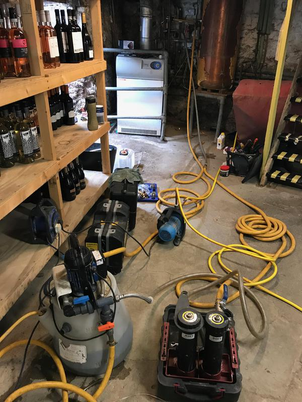 Image 3 - Power Flushing a open vented system in a pub .