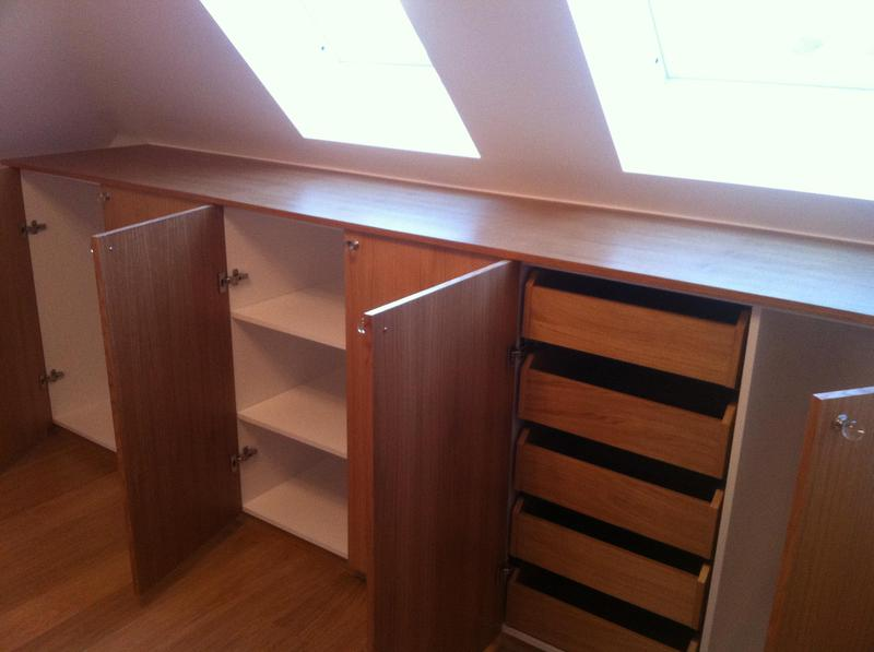 Image 43 - Fitted cabinet with internal drawers made from veneered oak