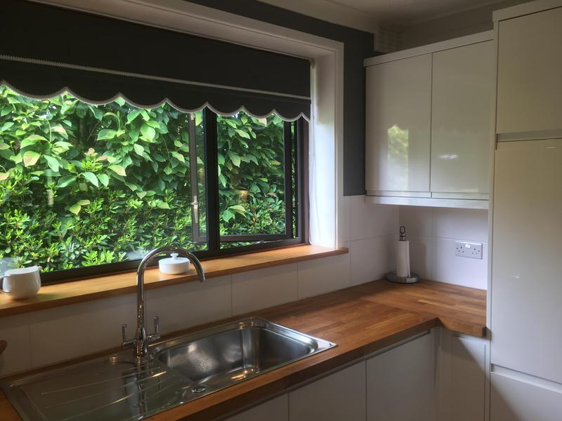 Image 28 - Hardwood (Cherry) window shelf to match the worktops.