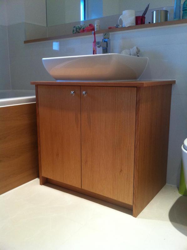Image 44 - Custom made sink cabinet constructed from veneered oak