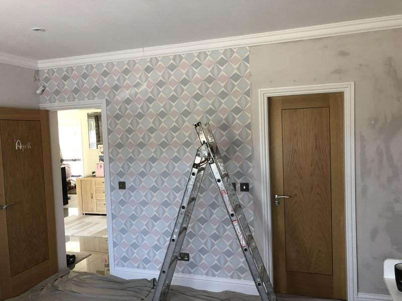 Image 9 - Wall papering complete
