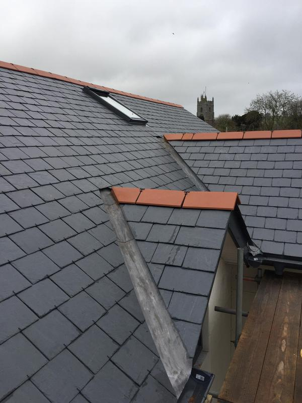 Image 38 - New Spanish Slate Roof - Lead Valleys.