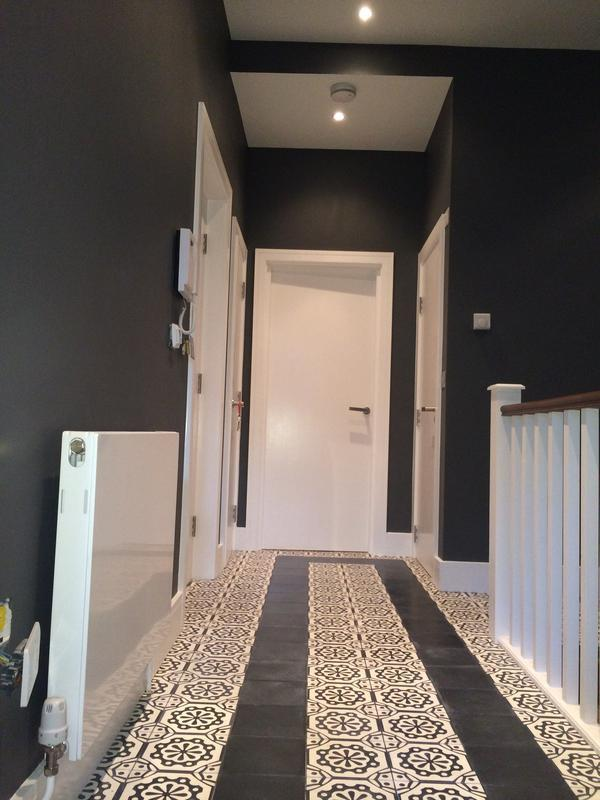 Image 16 - Hallway of trendy flat in South London