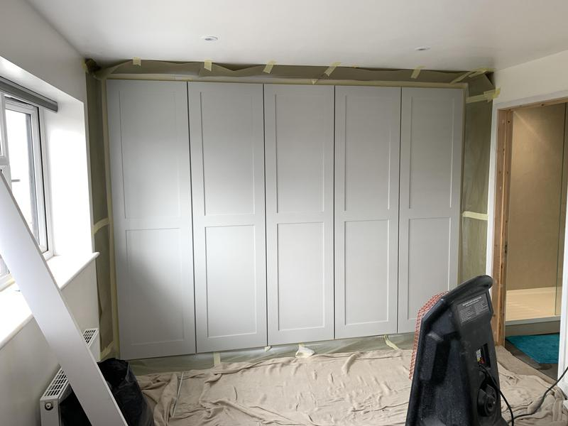 Image 7 - Tulipwood Doors and Frame, sprayed with a PreCat Satin Signal Grey Paint.