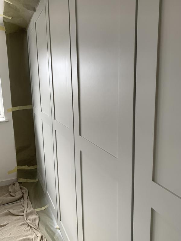 Image 8 - Tulipwood Doors and Frame, sprayed with a PreCat Satin Signal Grey Paint.