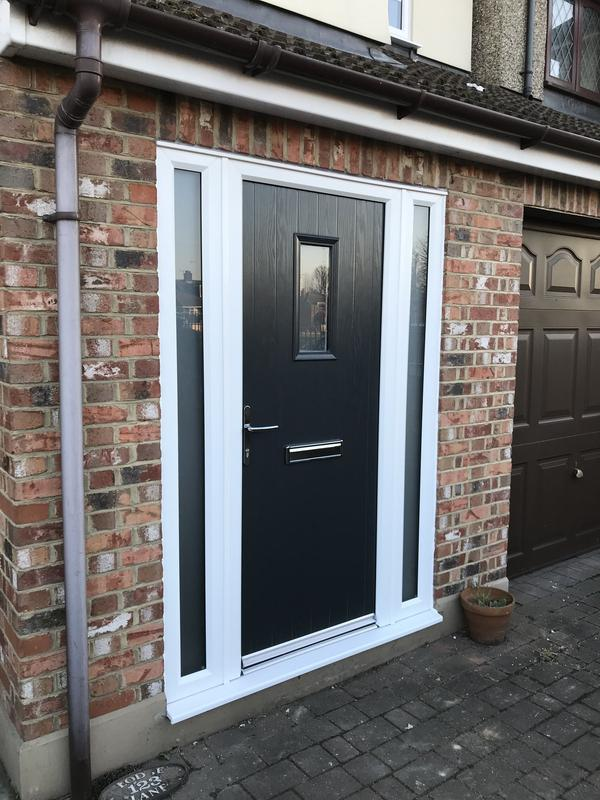 Image 124 - Cottage style composite door with sidescreens