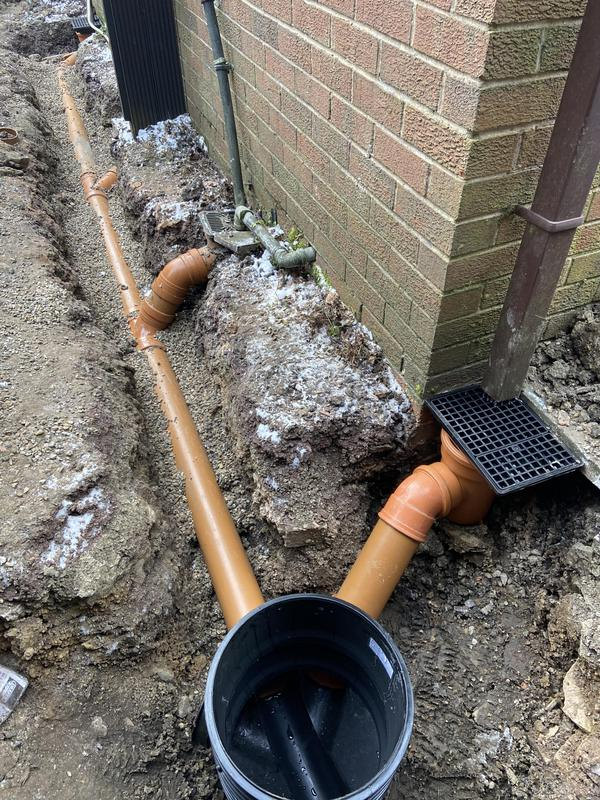 Image 12 - Full drain system installed with manhole chamber