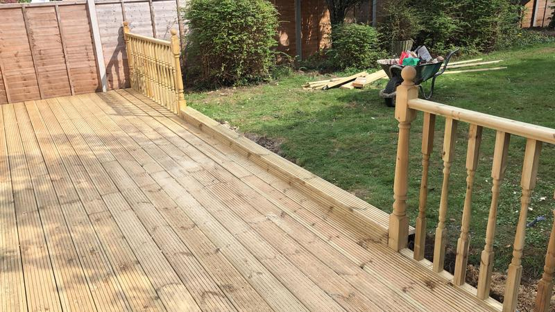 Image 3 - Decking after