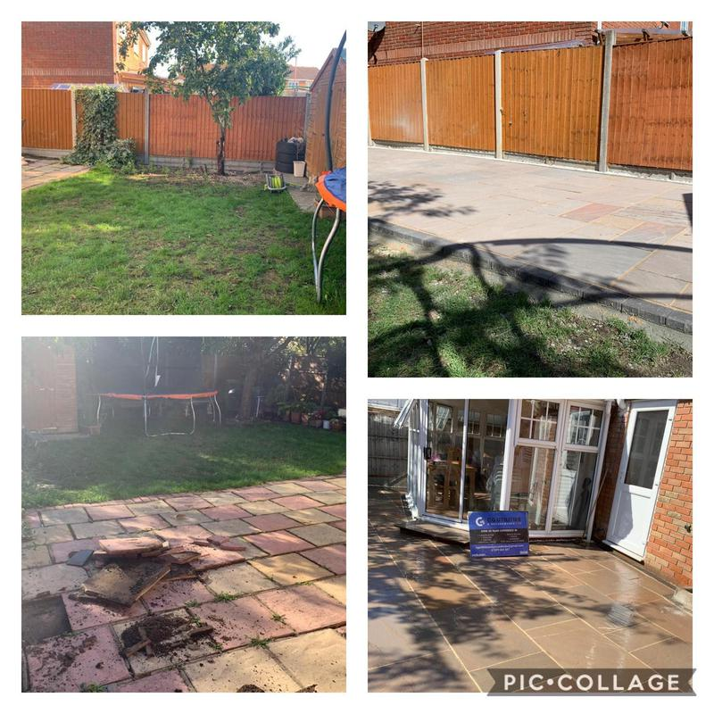 Image 12 - Before and after complete garden transformation raj blend patio pack with charcoal edges and white stone finish