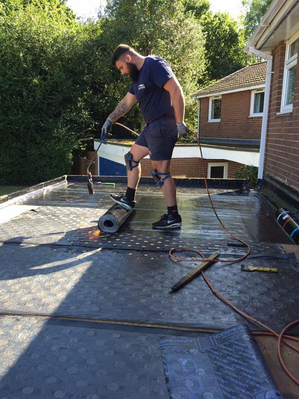 Image 18 - THREE LAYER HIGH PERFORMANCE TORCH ON FLAT ROOFING SYSTEM UNDERWAY WOKING SURREY
