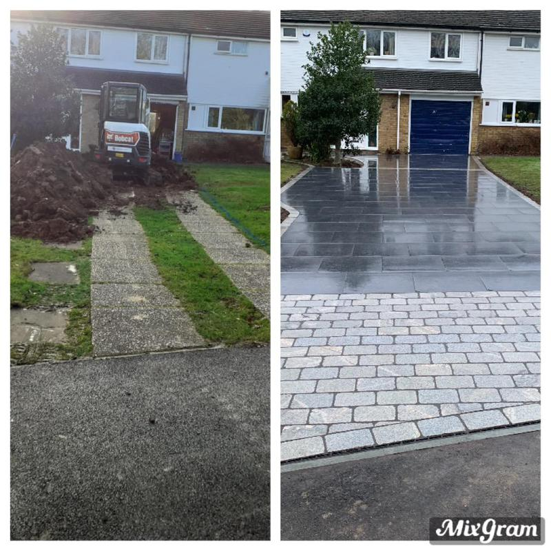 Image 20 - Before and after image using Porcelain with silver granite setts