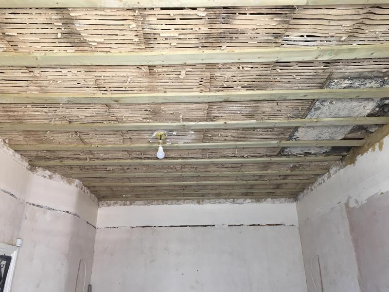 Image 54 - Removed plaster ceiling and battened to level ceiling