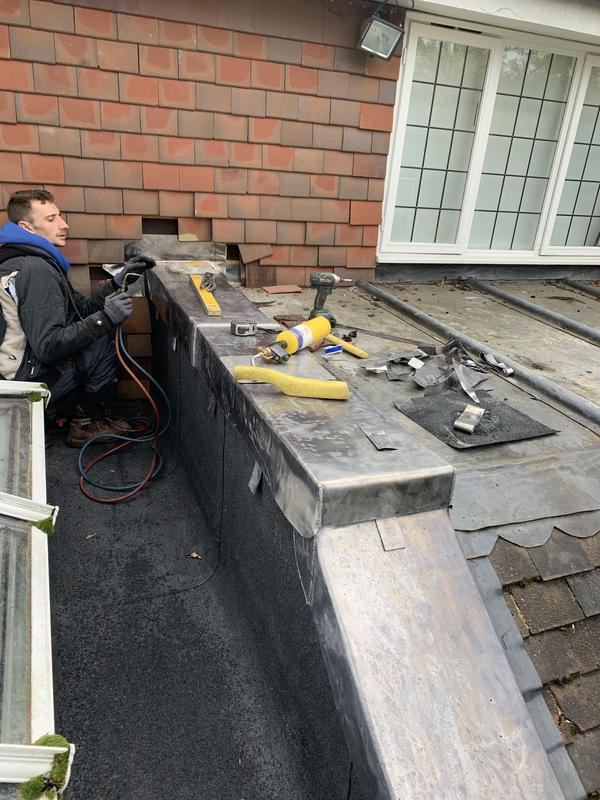 Image 64 - detailed lead work and lead welding in Guildford Surrey