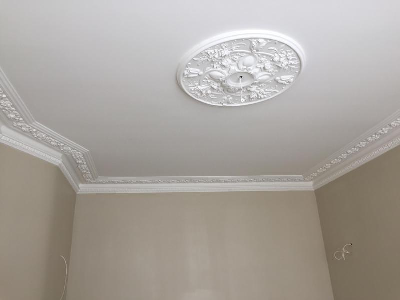 Image 52 - Ceiling plastered and painted.
