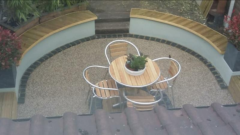Image 1 - landscaping. walls, fire pit, decking, stone resin patio