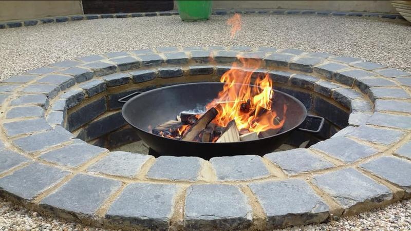 Image 2 - brick fire pit and stone resin patio