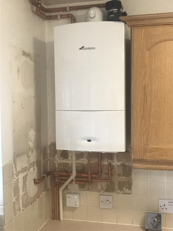 Image 31 - New Worcester combi boiler fitted. Replacement of ideal icons boiler.system was powerflushed and hive active heating controls fitted. 5 Year warrenty with Worcester boiler.