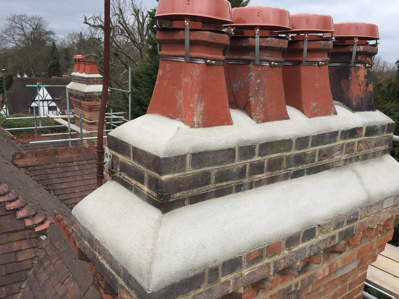Image 5 - Repointing on chimney stack