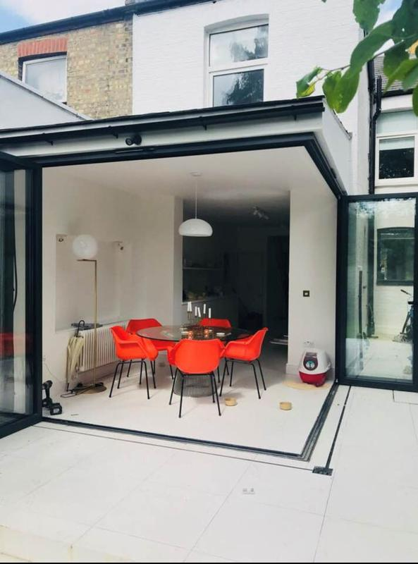 Image 11 - Rear extension - suspended corner with full opening bifold doors