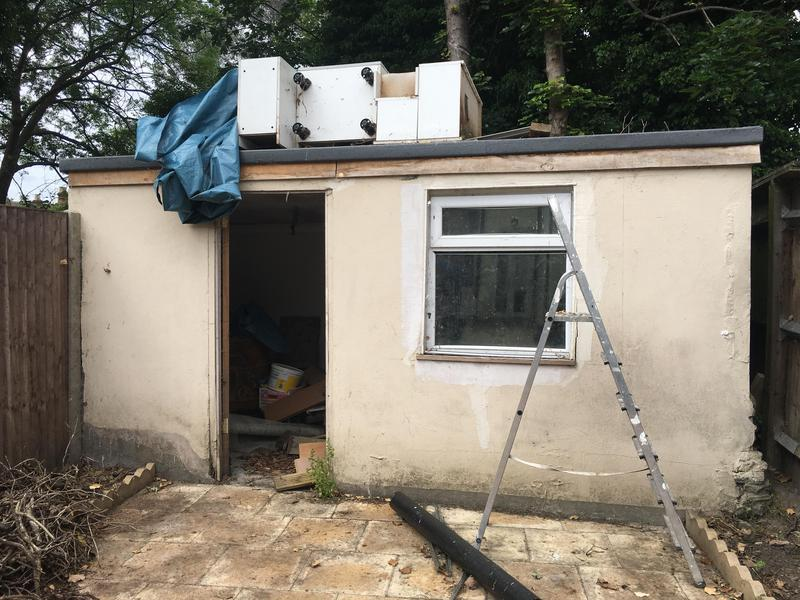 Image 67 - Before photo on this unused outside shed converted into an office space by chalk build